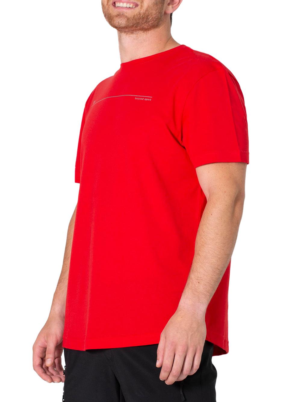 T-shirt uomo sport padel Shangai Rossa